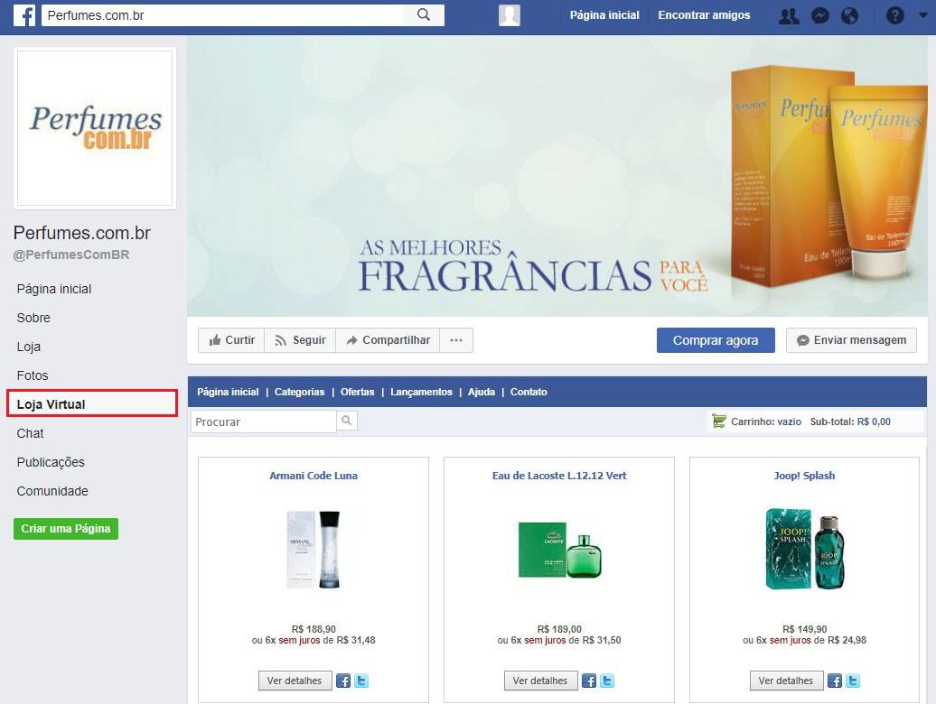 9b99e425f Acesse a página da empresa no Facebook e veja que uma nova aba foi  adicionada ao menu.